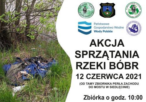 Zapraszamy wszystkich do akcji sprzątania Bobru w Siedlęcinie